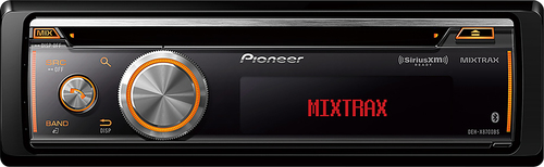 Pioneer - CD - Built-In Bluetooth - Apple® iPod®- and Satellite Radio-Ready - In-Dash Deck - Multi