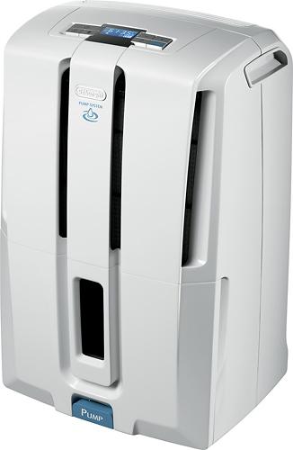 DeLonghi - 12.7-Pint Pump System Dehumidifier - White