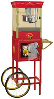Nostalgia Electrics - Vintage Collection Popcorn Dispensing Cart - Red