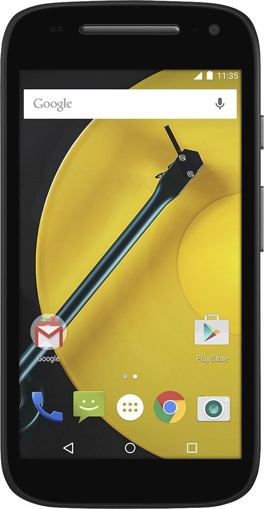 Sprint Prepaid - Motorola Moto E 4G with 8GB Memory No-Contract Cell Phone - Black