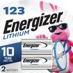 Energizer - 3V 123 Photo Lithium Battery (2-Pack) - Silver/Black