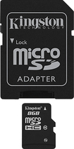 Kingston - 8GB microSDHC Class 10 Memory Card - Black