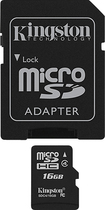 Kingston Technology - 16GB microSDHC Class 4 Memory Card - Black