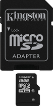 Kingston - 16GB microSDHC Class 10 Memory Card - Black