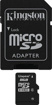 Kingston Technology - 8GB microSDHC Class 4 Memory Card