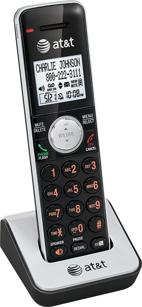 AT&T - CL80111 DECT 6.0 Cordless Expansion Handset - Black