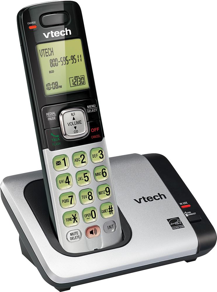 VTech - CS6419 DECT 6.0 Expandable Cordless Phone System - Silver
