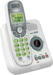 VTech - CS6124 DECT 6.0 Cordless Phone with Digital Answering System - White/Gray