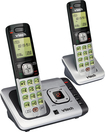 VTech - CS6729-2 DECT 6.0 Expandable Cordless Phone System with Digital Answering System - Silver/Black