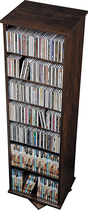 Prepac - Ashlin 512-Disc 2-Sided Spinning Multimedia Tower - Espresso