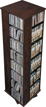 Prepac - Ashlin 1040-Disc 4-Sided Spinning Multimedia Tower - Espresso