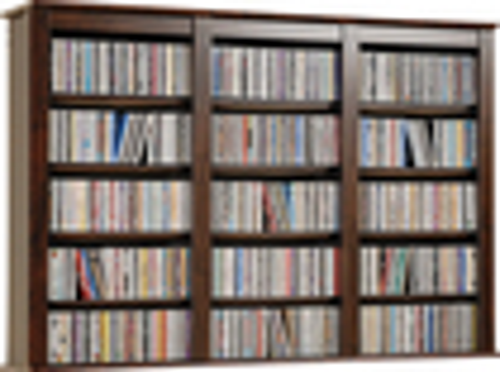 Prepac - Ashlin 523-Disc Triple Wall-Mounted Multimedia Storage - Espresso