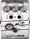 Rocktron - Celestial Delay Effect Pedal for Electric Guitar - Silver