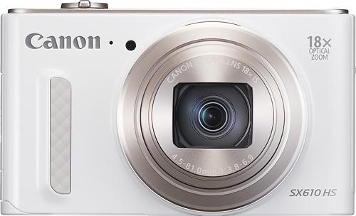 Canon - PowerShot SX610 HS 20.2-Megapixel Digital Camera - White