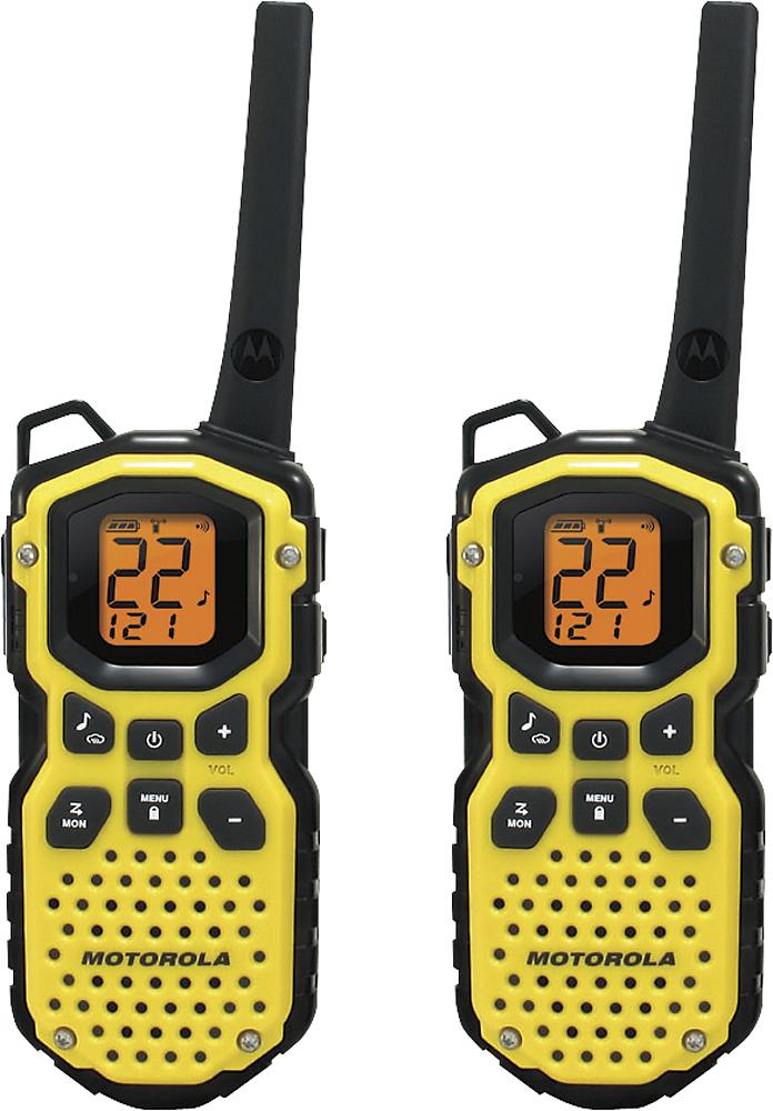 Motorola - Talkabout 35-Mile, 2-Way Radio (Pair) - Yellow