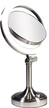 Zadro - Surround Light Double-Sided Illuminated Makeup Mirror - Silver