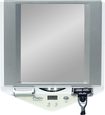 Zadro - Z' Fogless LED-Lighted Shower Mirror with LCD Clock - White