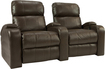 Octane Seating - Headliner 2-Seat Straight Leather Home Theater Seating - Brown