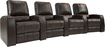 TheaterSeatStore - Magnolia 4-Seat Straight Leather Home Theater Seating - Brown