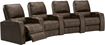 TheaterSeatStore - Magnolia 4-Seat Curved Leather Home Theater Seating - Brown