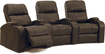 Octane Seating - Headliner 3-Seat Curved Leather Home Theater Seating - Brown