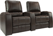 Octane Seating - Magnolia 2-Seat Straight Leather Home Theater Seating - Brown