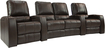 TheaterSeatStore - Magnolia 2-Seat Curved Leather Home Theater Seating with Love Seat - Brown