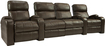 TheaterSeatStore - Headliner 2-Seat Straight Leather Home Theater Seating with Love Seat - Brown