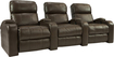 TheaterSeatStore - Headliner 3-Seat Straight Leather Home Theater Seating - Brown