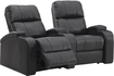 TheaterSeatStore - Headliner 2-Seat Curved Leather Home Theater Seating - Black
