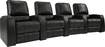 Octane Seating - Magnolia 4-Seat Straight Leather Home Theater Seating - Black
