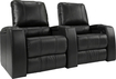 TheaterSeatStore - Magnolia 2-Seat Straight Leather Home Theater Seating - Black