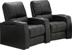 TheaterSeatStore - Magnolia 2-Seat Curved Leather Home Theater Seating - Black
