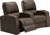 TheaterSeatStore - Magnolia 2-Seat Curved Leather Home Theater Seating - Brown