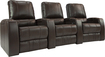 TheaterSeatStore - Magnolia 3-Seat Straight Leather Home Theater Seating - Brown