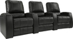 TheaterSeatStore - Magnolia 3-Seat Straight Leather Home Theater Seating - Black