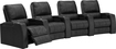 TheaterSeatStore - Magnolia 4-Seat Curved Leather Home Theater Seating - Black