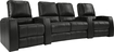 TheaterSeatStore - Magnolia 2-Seat Straight Leather Home Theater Seating with Love Seat - Black