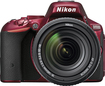 Nikon - D5500 DSLR Camera with AF-S DX NIKKOR 18-140mm f/3.5-5.6G ED VR Lens - Red