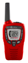 Cobra - 23-Mile, 22-Channel 2-Way Emergency Weather Alert Radio and Walkie Talkie - Red