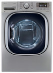 LG - 7.3 Cu. Ft. 14-Cycle-Ultralarge Capacity Steam Smart Electric Dryer - Graphite Steel