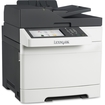 Lexmark - Laser Multifunction Printer - Color - Plain Paper Print - Desktop - Gray, White