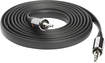 Griffin Technology - 6' Flat Auxiliary Stereo Audio Cable - Black
