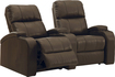 TheaterSeatStore - Headliner 2-Seat Curved Leather Home Theater Seating - Brown