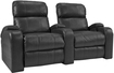 TheaterSeatStore - Headliner 2-Seat Straight Leather Home Theater Seating - Black