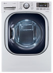 LG - 7.3 Cu. Ft. 14-Cycle-Ultralarge Capacity Steam Smart Electric Dryer - White