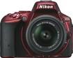 Nikon - D5500 DSLR Camera with AF-S DX NIKKOR 18-55mm f/3.5-5.6G VR II Lens - Red