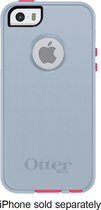 OtterBox - Commuter Series Case for Apple® iPhone® 5 and 5s - Wild Orchid (Blaze Pink/Powder Gray)