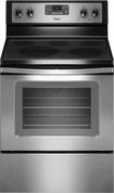 """Whirlpool - 30"""" Self-Cleaning Freestanding Electric Convection Range - Stainless-Steel"""