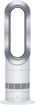 Dyson - AM09 Hot + Cool Fan Heater - White/Silver